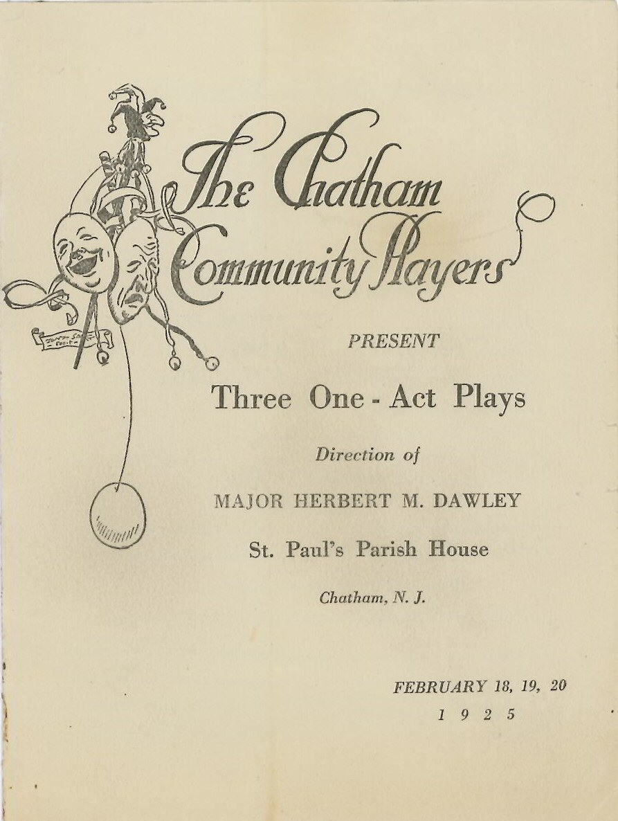 Three One Act Plays (1925)