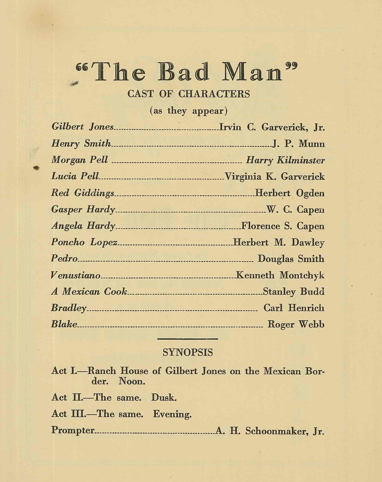 The Bad Man (1932)