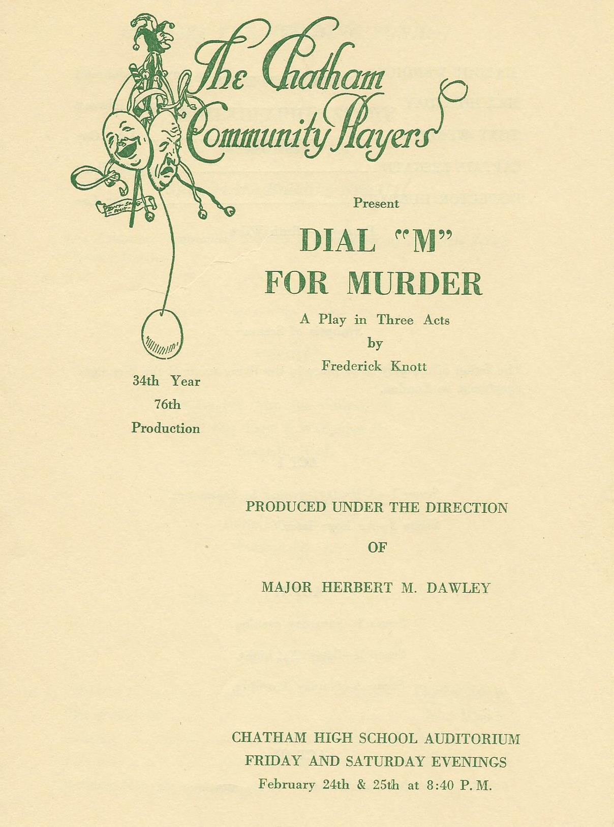 Dial M For Murder (1956)