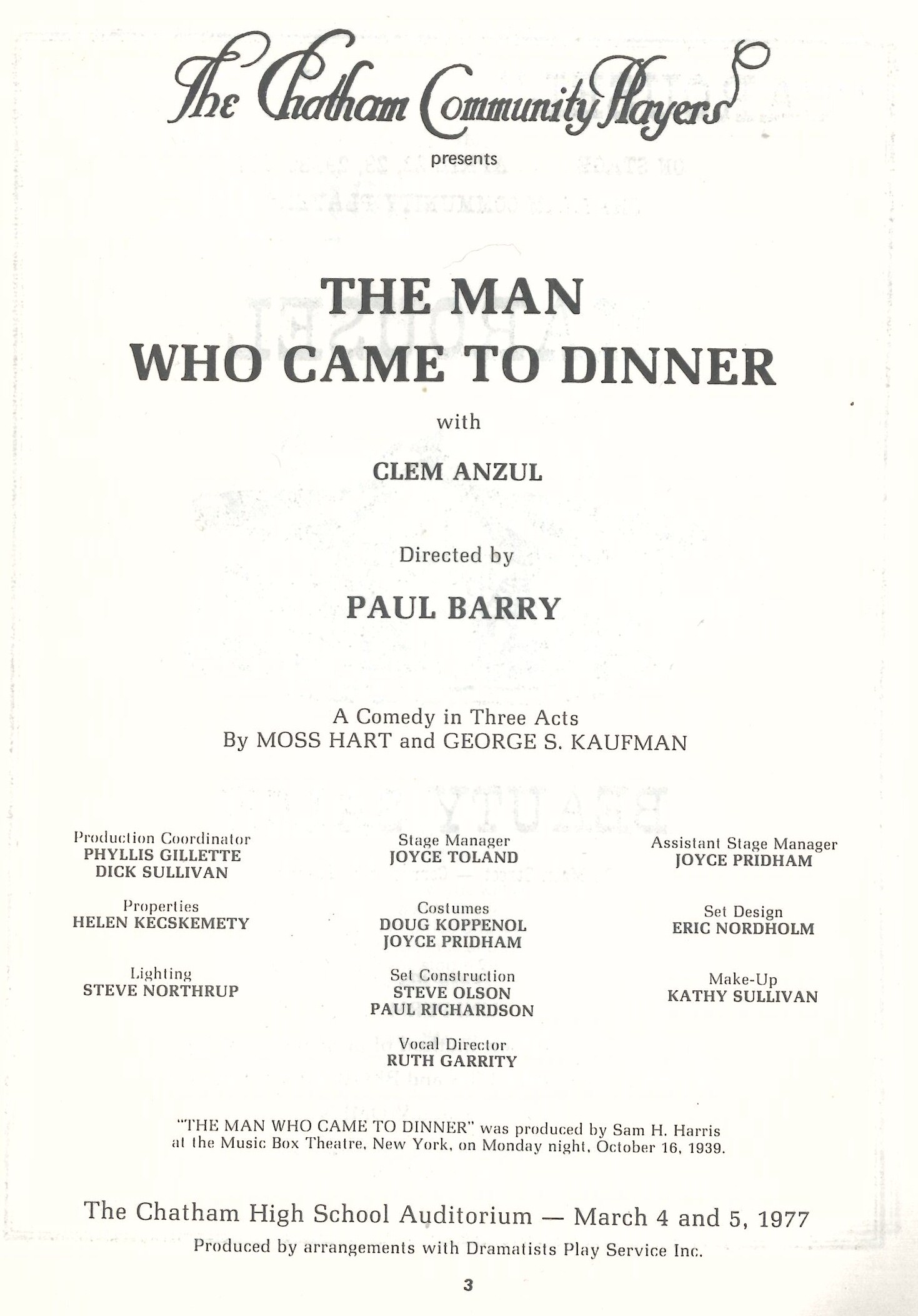 The Man Who Came To Dinner (1977)