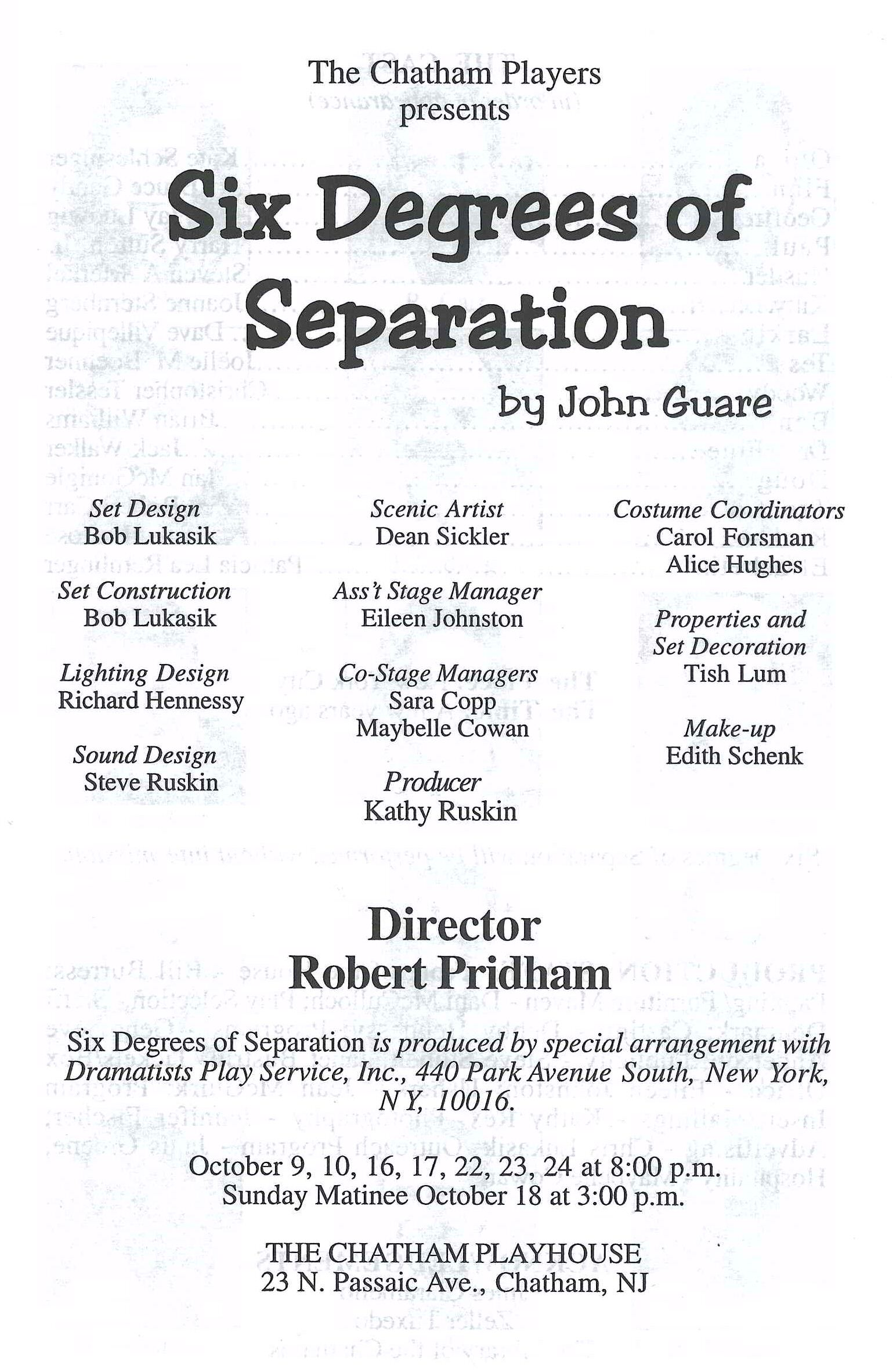 Six Degrees of Separation (1998)