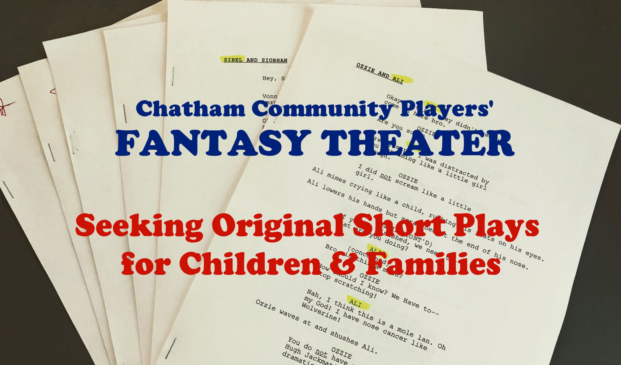 Fantasy Theater Seeking Short Plays for Children and Families