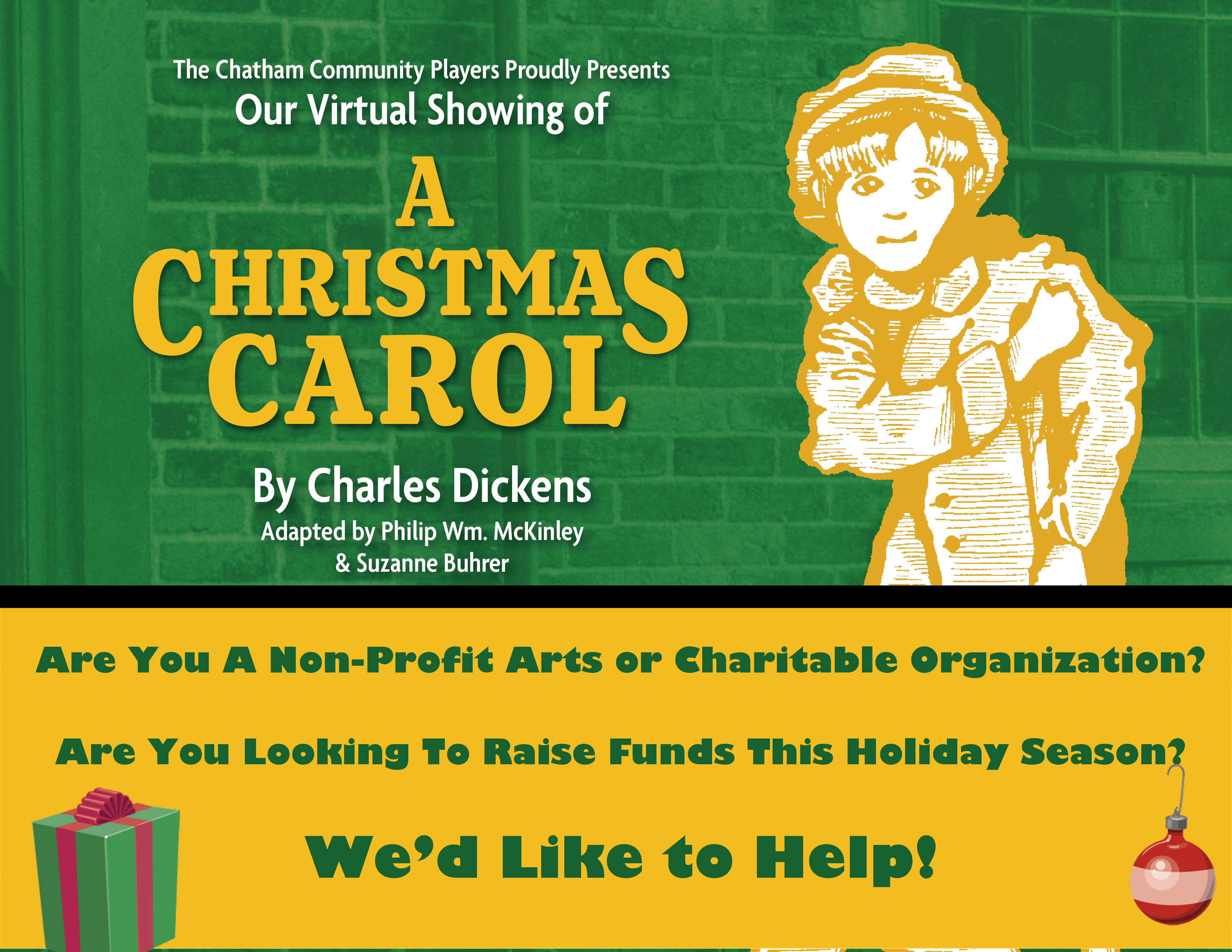 A Christmas Carol - Special Partnership for Non-Profits Arts and Charitable Organizations